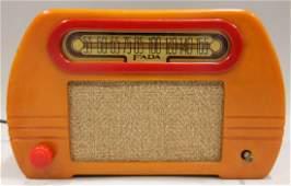 Model 652 Butterscotch Art Deco Fada Radio