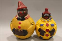 Roly Poly Black Americana Clowns