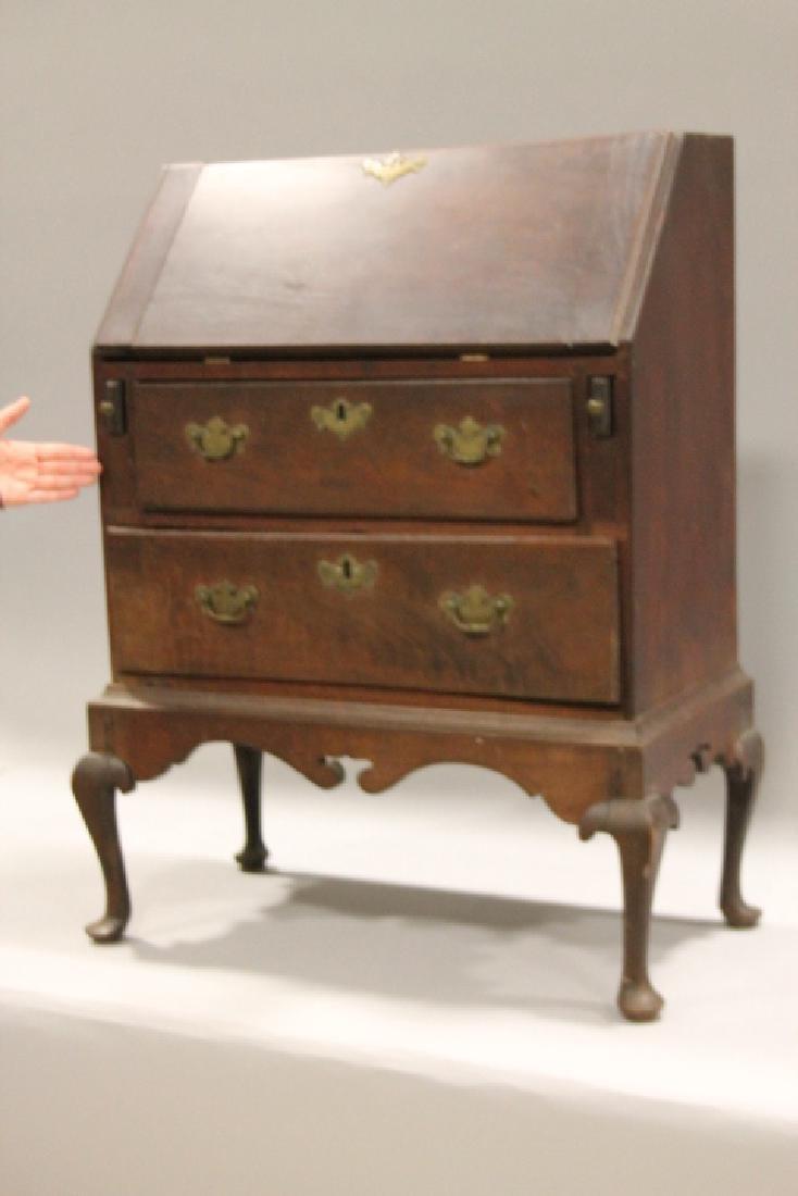 18th C Child's Period Slant Front Walnut Desk