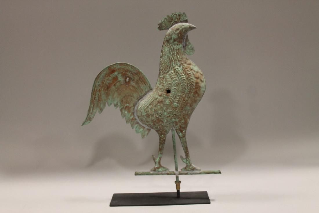 19th - Early 20th C Copper Rooster Weathervane