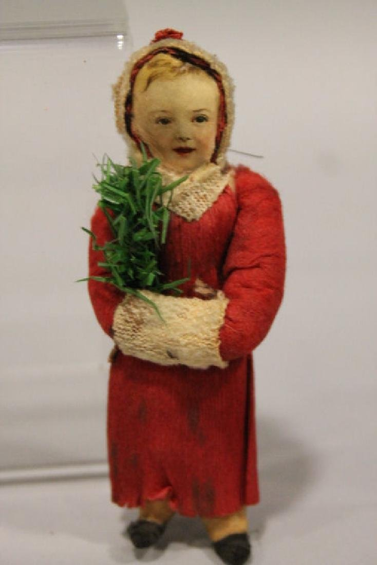 Christmas Ornament - Spun Cotton Little Girl