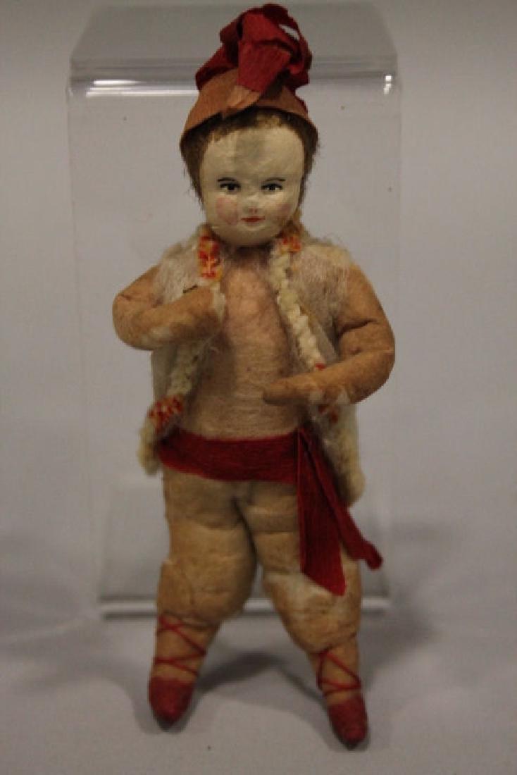 Christmas Ornament - Spun Cotton Boy in Vest