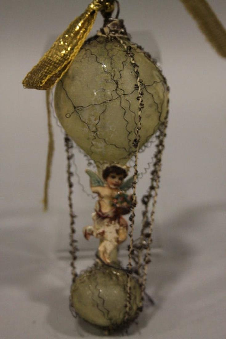 Christmas Ornament - Wired Balloon with Angel