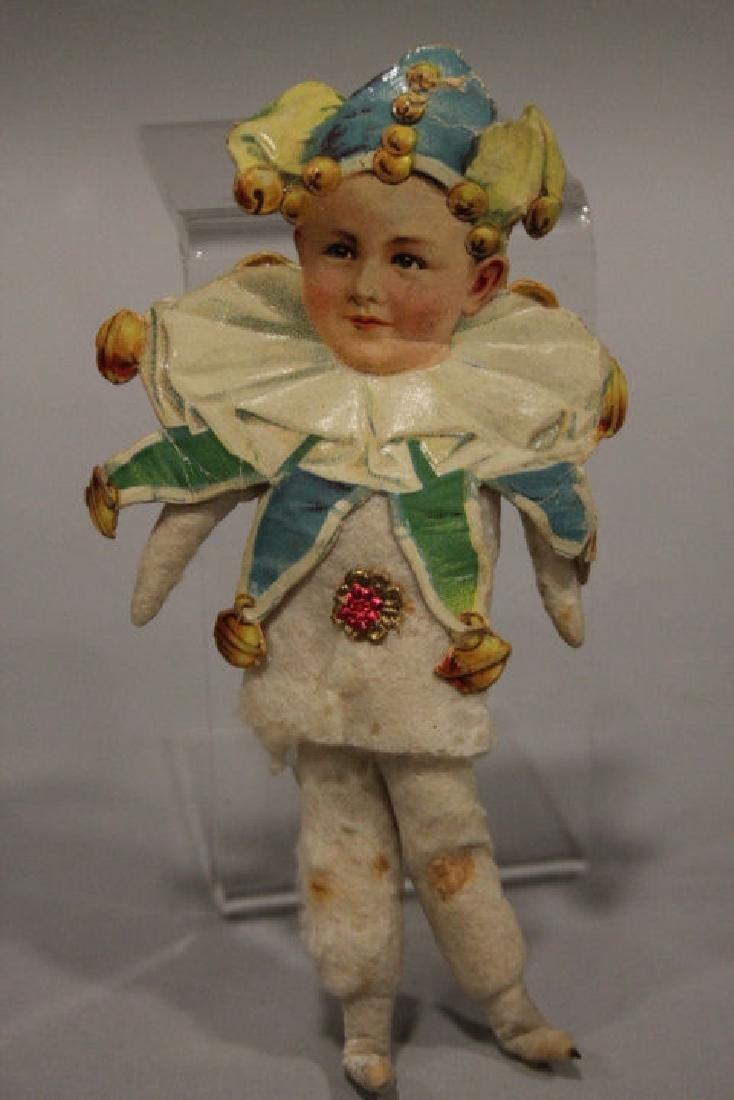 Christmas Ornament - Spun Cotton Boy as Court Jester