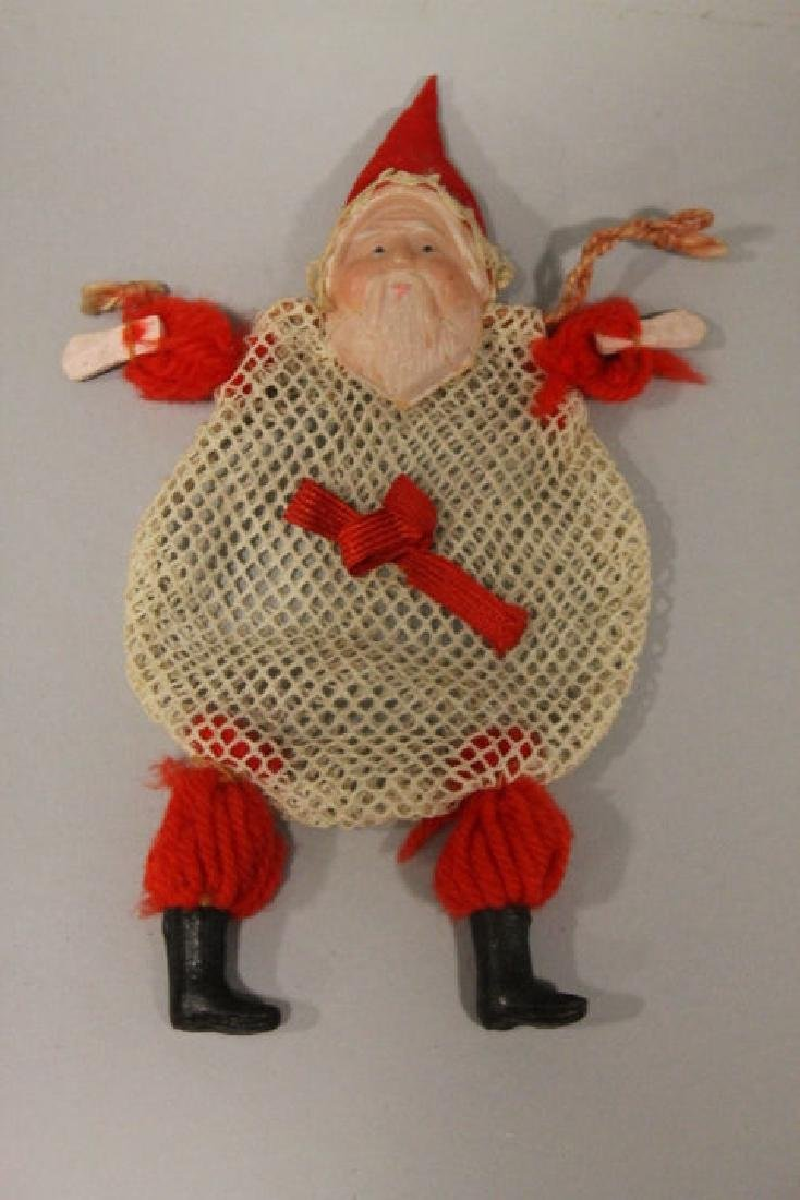Christmas Ornament - Santa Netted Candy Container