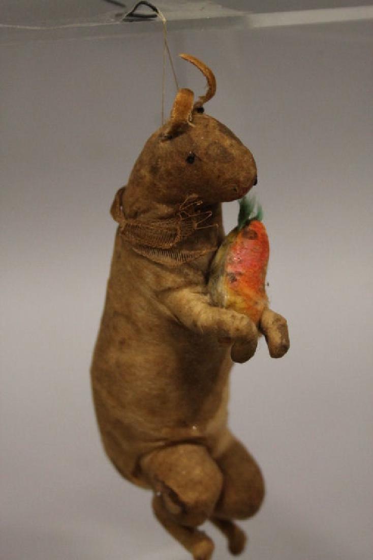 Christmas Ornament - Spun Cotton Rabbit w/ Carrot