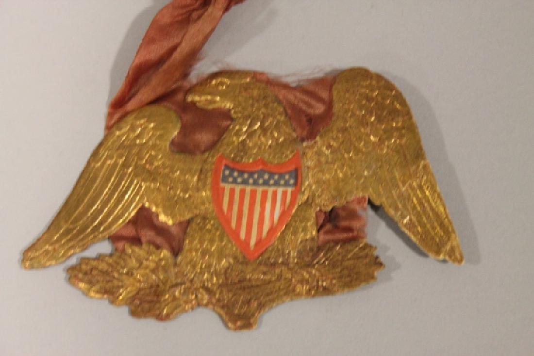 Christmas Ornament - Dresden Eagle w/ Silk Lining