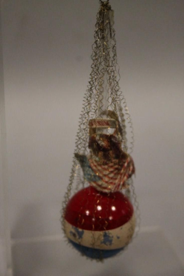 Christmas Ornament -Glass Wire Patriotic Balloon