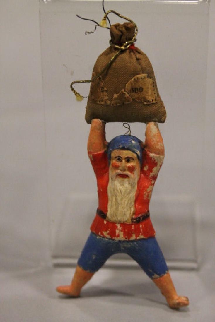 Christmas Ornament - Dresden Dwarf w/ Money Bag