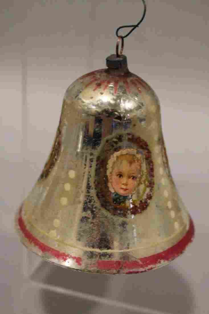Christmas Ornament - Baby Cartouches Glass Bell