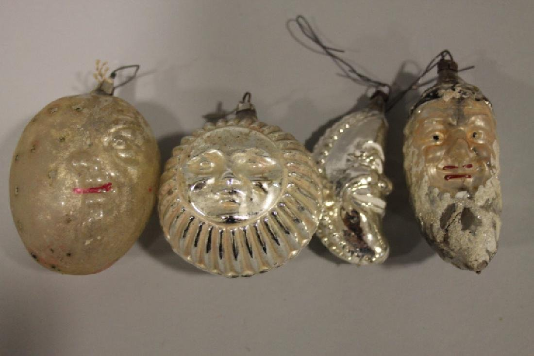 Christmas Ornament - Glass Santa on Pinecone & Others