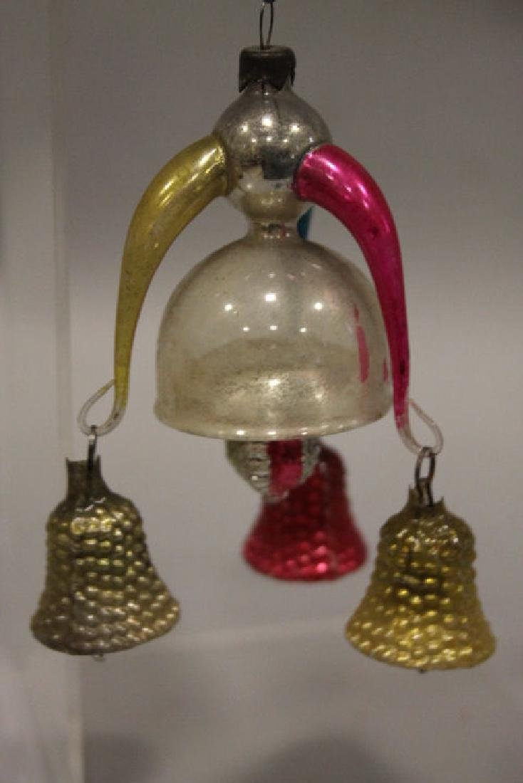 Christmas Ornament - Glass Cluster of Hanging Bells