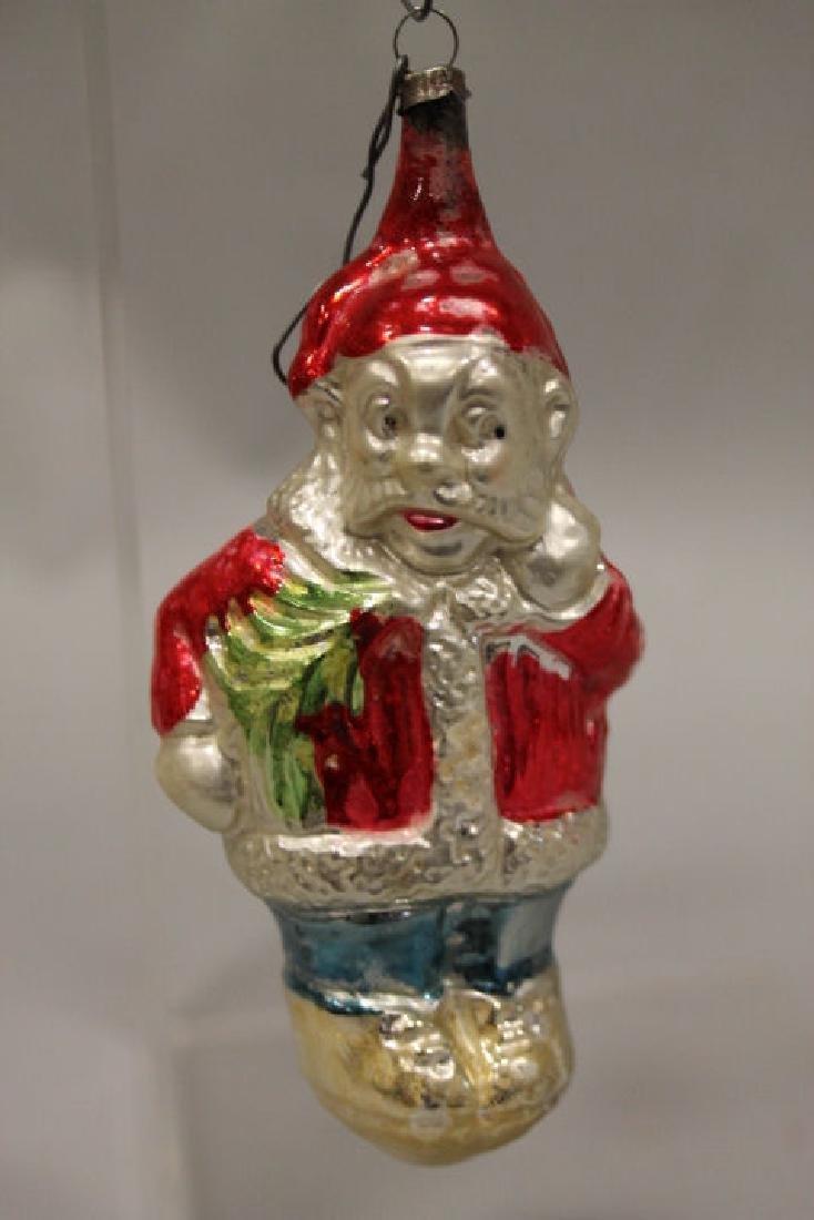 Christmas Ornament - Glass Santa