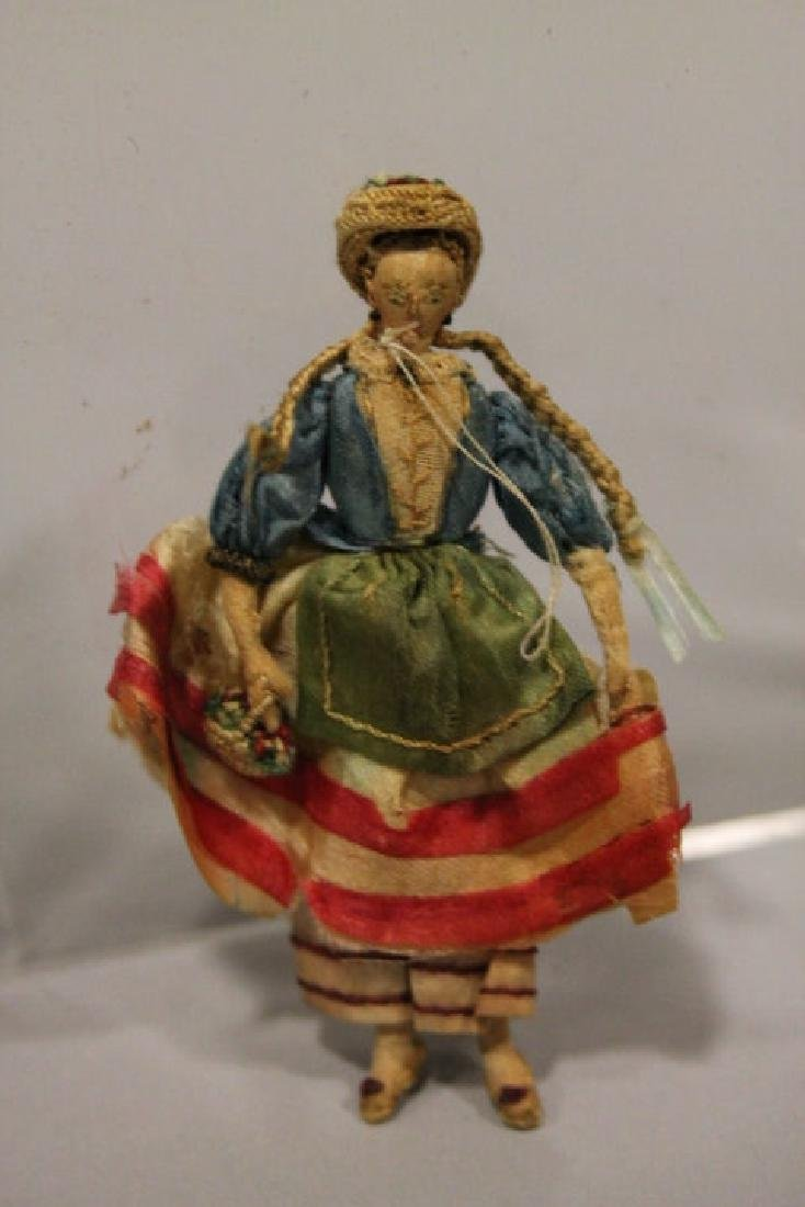 Christmas Ornament - Tiny Girl Figure with Long Braids