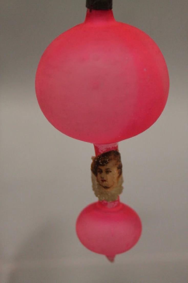 Christmas Ornament - Glass Hot Air Balloon w/ Angel