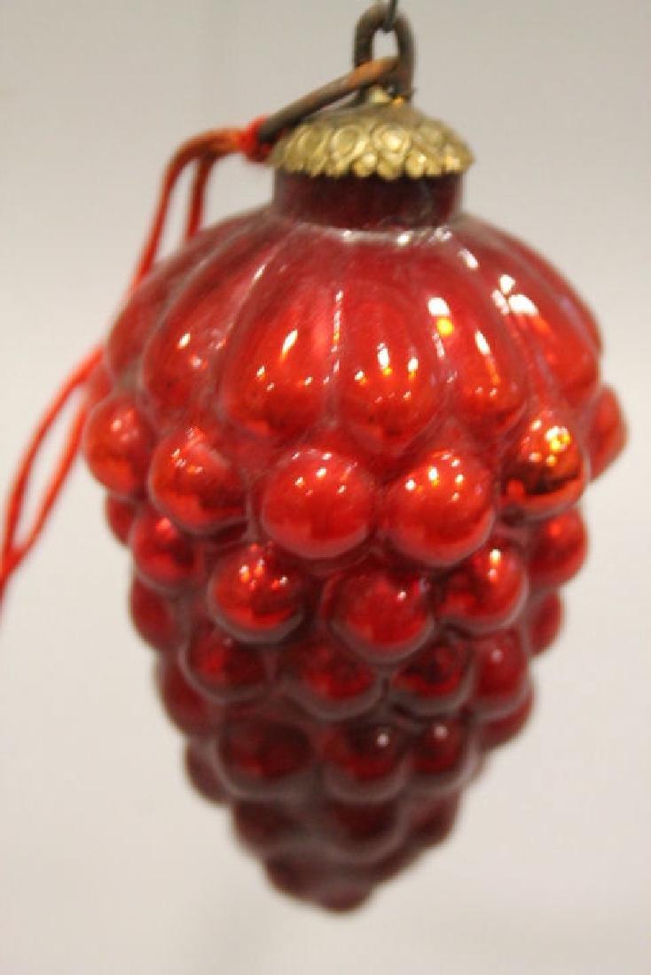 Christmas Ornament - Red Grape Kugel