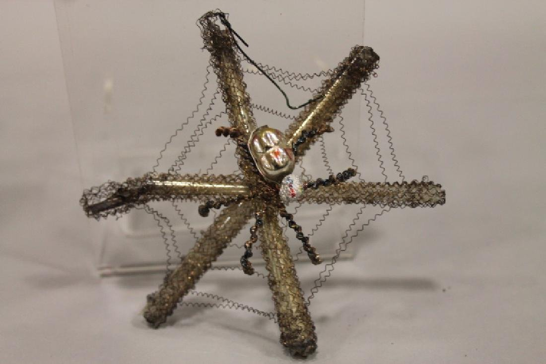 Christmas Ornament - Wired Glass Spider on Web
