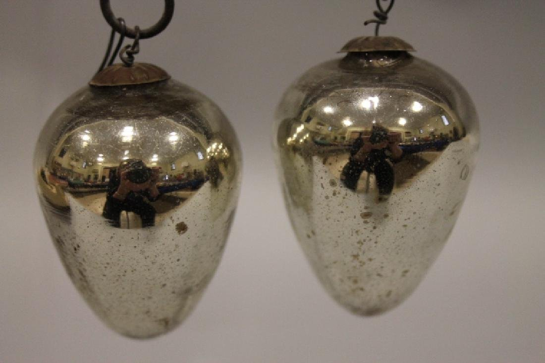 Christmas Ornament - Silver Kugels
