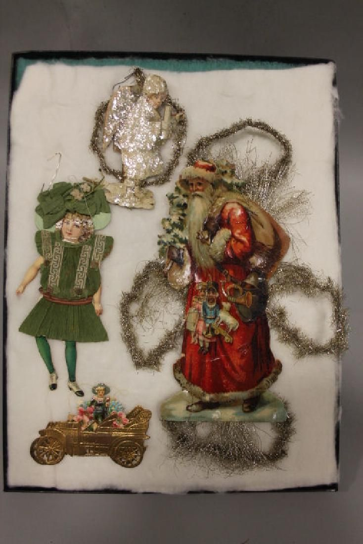 Lithographed Paper Ornaments - Large Santa, Others