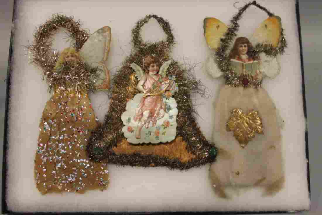 Lithographed Paper Ornaments - Angels