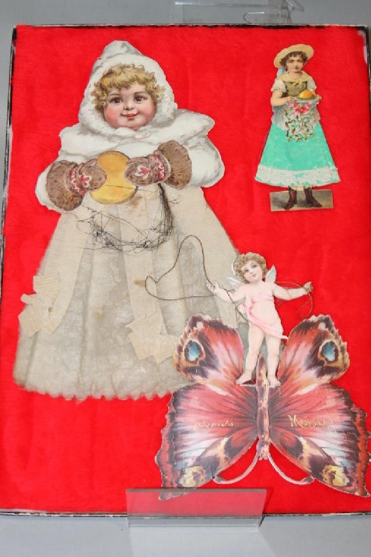 Lithographed Paper Ornaments - Large Child, Others