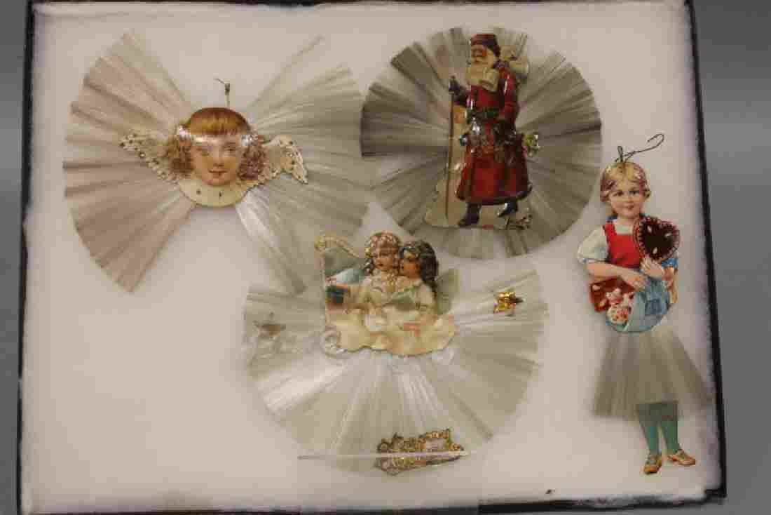 Lithographed Paper Ornaments - Spun Glass Group