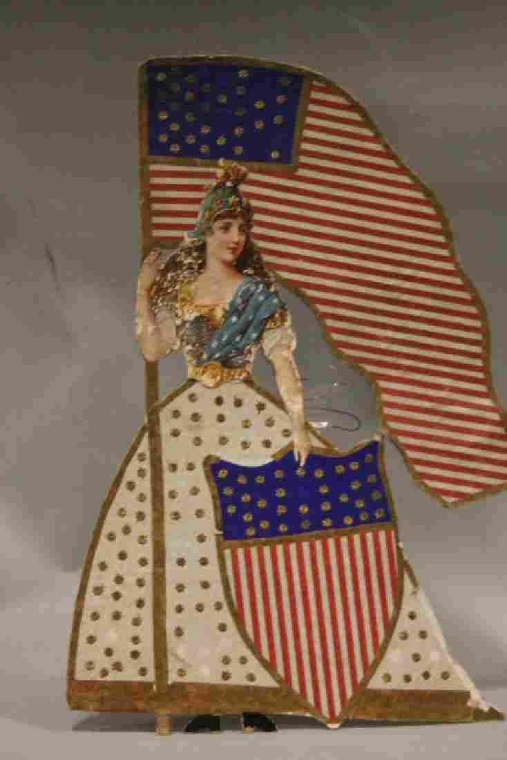 Lithographed Paper Ornament - Patriotic Lady Tree