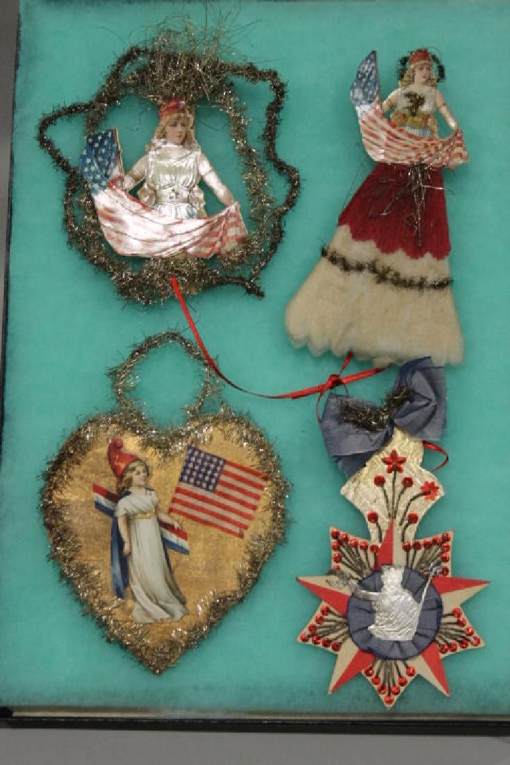 Lithographed Paper Ornaments - Patriotic Group