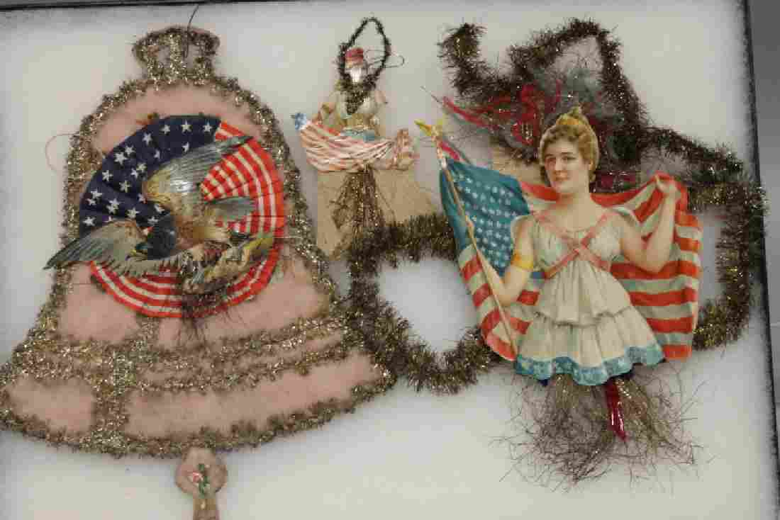 Lithographed Paper Ornaments - Patriotic Group Eagle