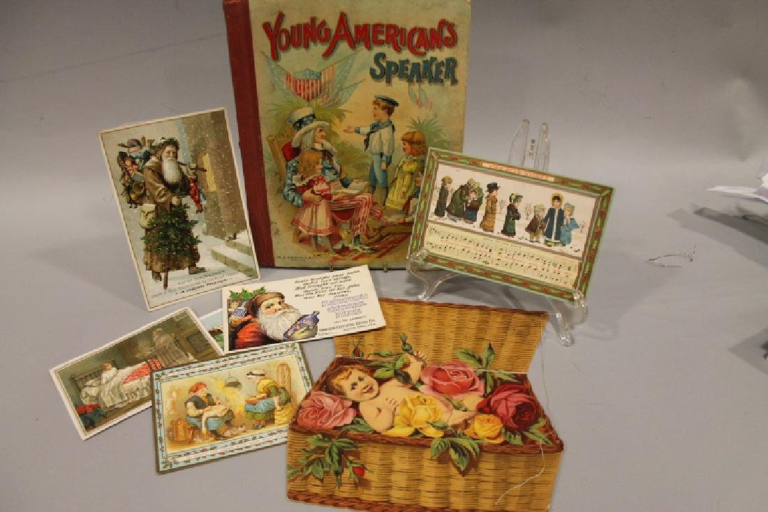 Lithographed Paper - Uncle Sam Book & Santa Cards