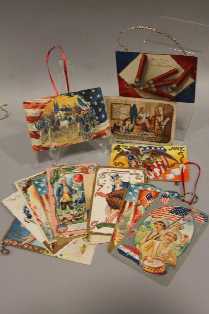 Christmas Ornament - 12 Patriotic Postcards