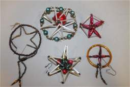 Christmas Ornaments  Glass  Wired Various Shapes
