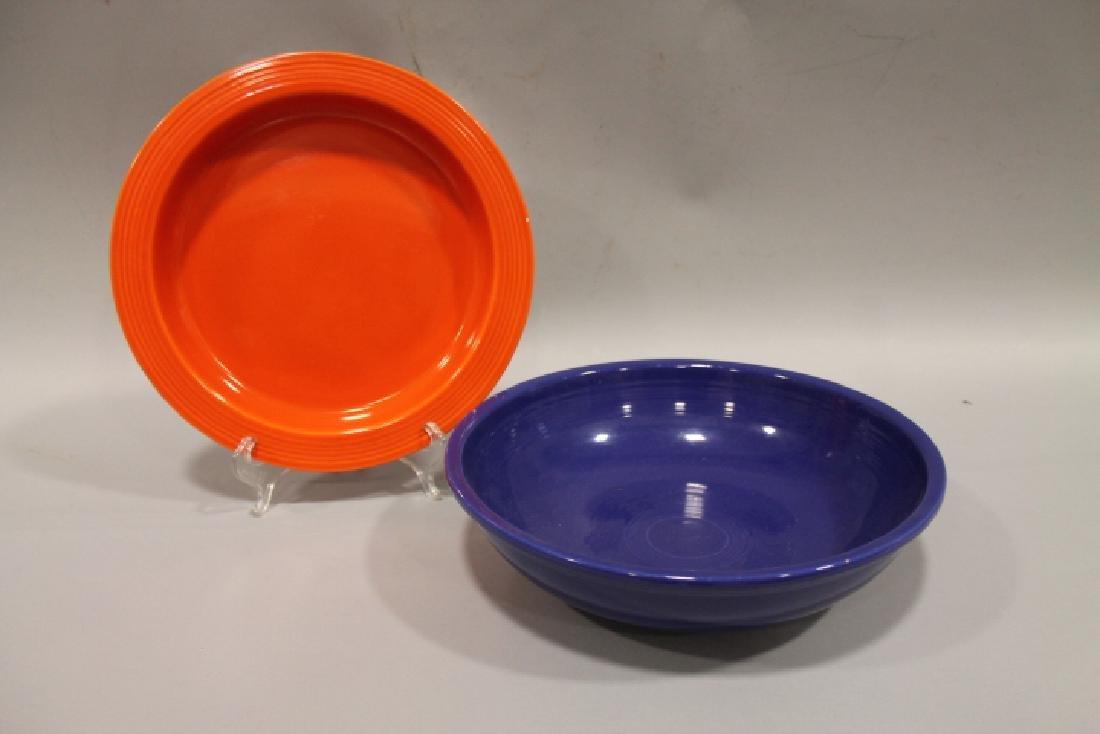 Fiesta Serving Bowl & Rimmed Platter