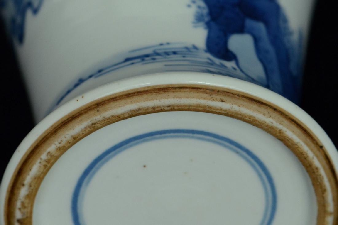 $1 Chinese Blue and White Vase Figure Kangxi - 10