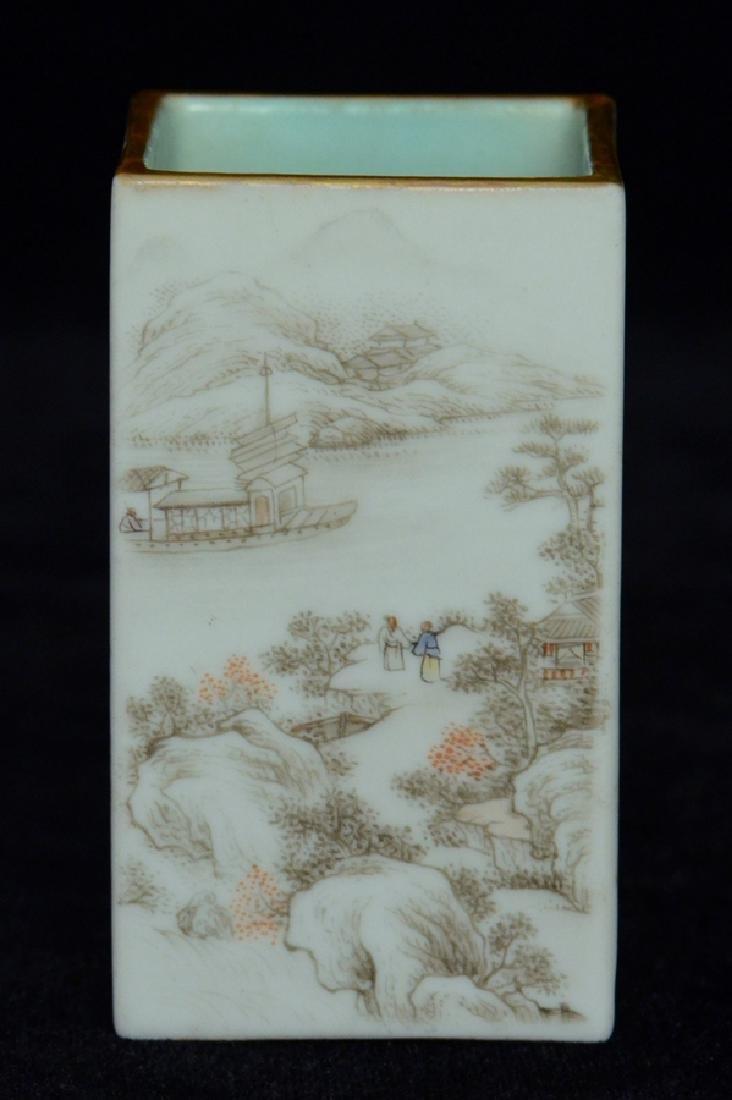 $1 Chinese Brush Pot Qianlong Mark and Period - 3