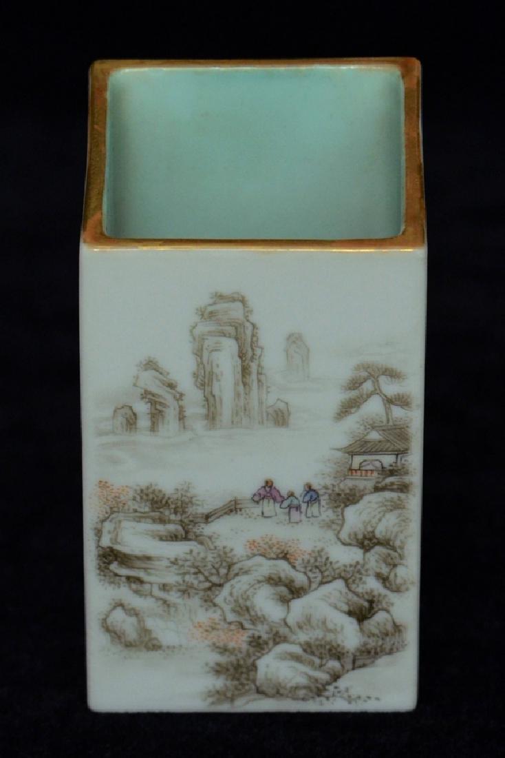 $1 Chinese Brush Pot Qianlong Mark and Period - 8