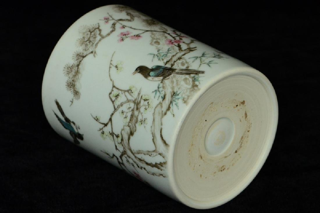 $1 Chinese Porcelain Brush Pot 18th C - 9