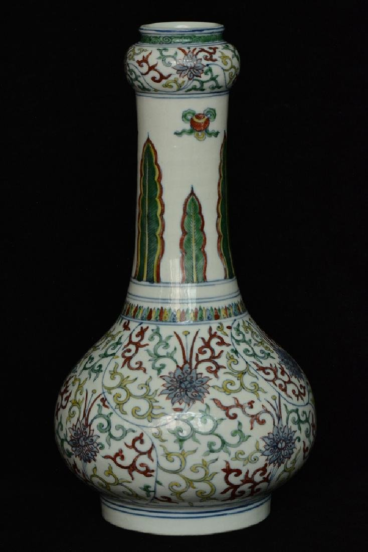 $1 Chinese Doucai Porcelain Vase Wanli Mark - 2