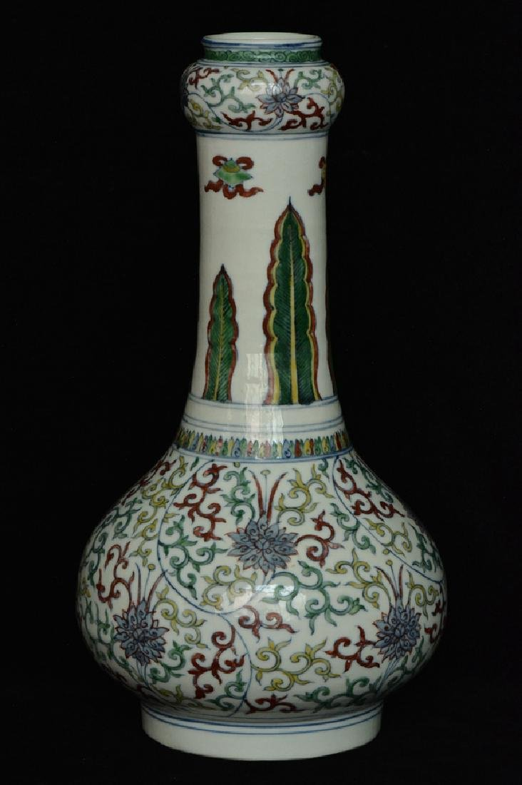 $1 Chinese Doucai Porcelain Vase Wanli Mark - 4