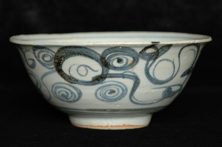 Chinese Ming Blue and White Porcelain Bowl 15th C