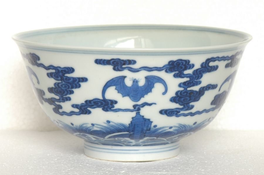 Chinese Blue and White Bowl Qianlong Mark
