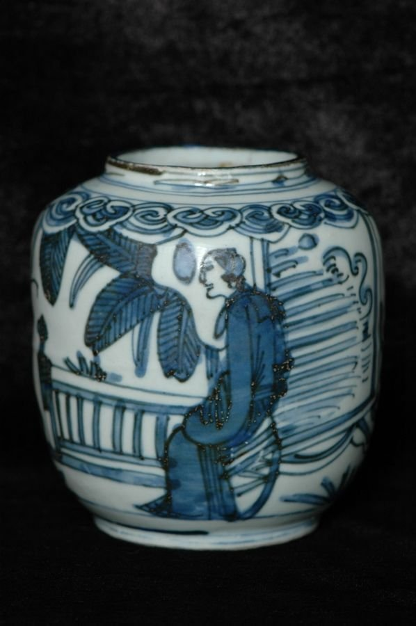Chinese Ming Blue and White Jar Figure 16th C