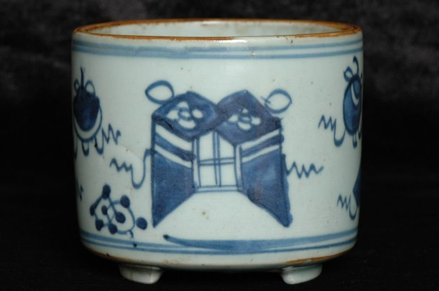 Chinese Blue and White Incense Burner 18th C