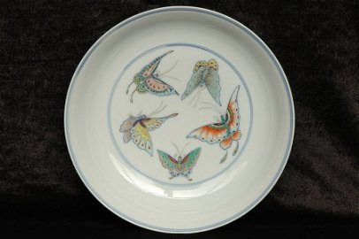 Chinese Butterfly Plate Yongzheng Mark and Period