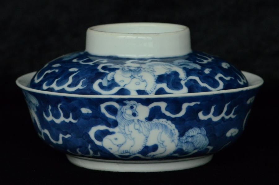 Chinese Blue and White Bowl Makers' Mark 19th C