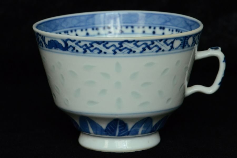 Chinese Blue and White Cup Kangxi Mark 19th C