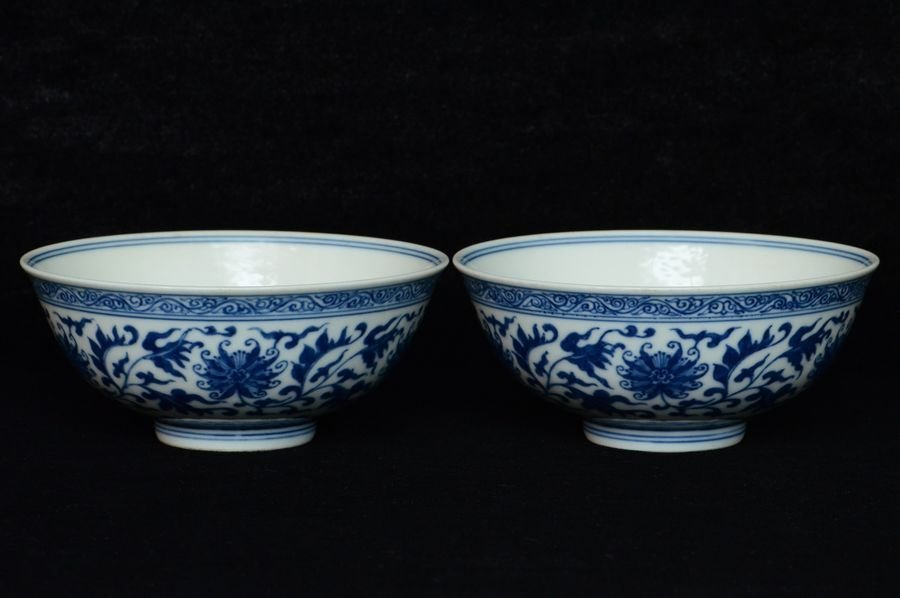 Pair of Chinese Bowls Qianlong Mark and Period