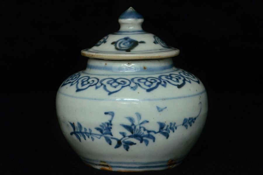 Chinese Ming Blue and White Porcelain Jar 15th C