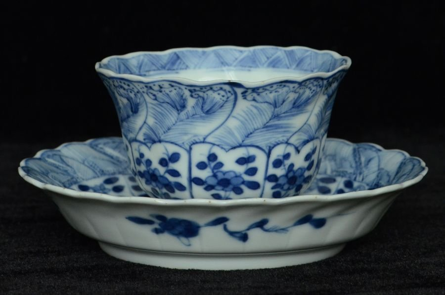 Chinese Blue and White Cup & Saucer Kangxi Period