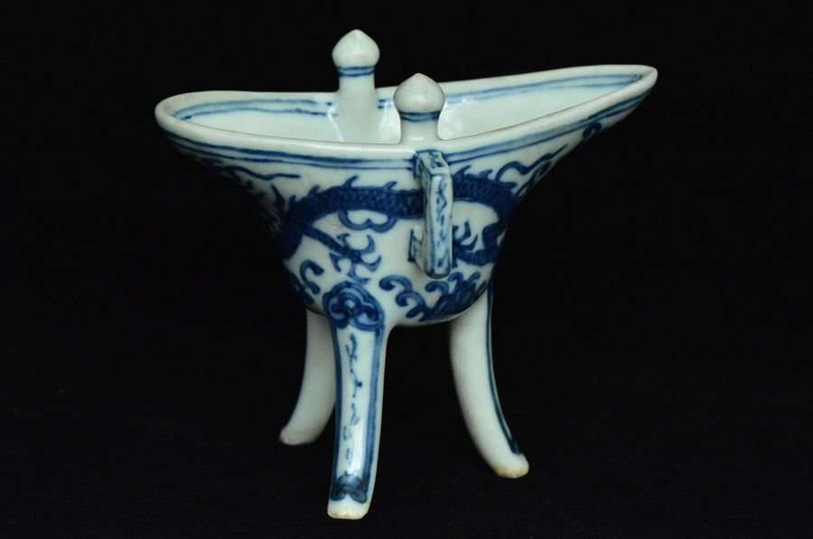 Chinese Ming Dragon Cup Jiajing Mark and Period